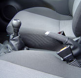 Car Interior. Handbrake and Gear Stick Stock Images