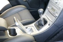Car interior. A new car interior in the car store Royalty Free Stock Image