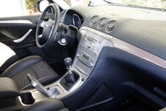 Car interior. A new car interior in the car store Royalty Free Stock Photos