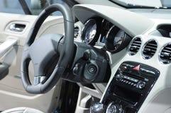 Car interior. Interior of new luxury sports car Royalty Free Stock Photo