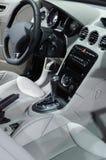 Car interior. Interior of new luxury sports car Stock Photos