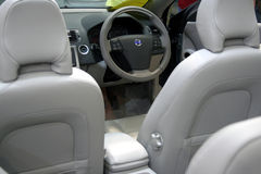 Car interior. Interior of a luxury sport car - cabrio Royalty Free Stock Images