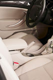 Car interior. The beautiful interior of New Car royalty free stock images