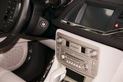 Car interior. The beautiful interior of New Car royalty free stock photography