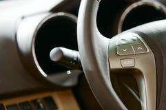 Car interior. The beautiful interior of New Car royalty free stock photo