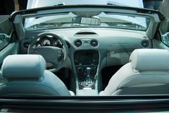 Car interior. Interior of the luxurious cabriolet Royalty Free Stock Image