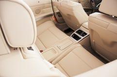 Car interior. The beautiful interior of New Car stock photos