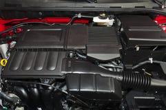 Car interior. The beautiful black interior of New Car stock photography