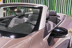 Car interior. The beautiful interior of New Car stock photography
