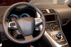 Car interior. Interior of a modern new car Stock Images