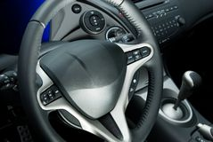 Car interior. Picuture of a modern Car interior Stock Photos