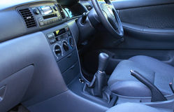 Car interior. A close view of car interior stock photo