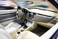 Car interior. With motion effect in background Stock Photography