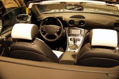 Car interior. Interior of the luxurious cabriolet Royalty Free Stock Photography