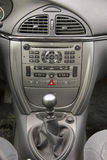 Car interior. Gear lever, audio and climatronic system Stock Images