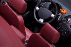 Car interior from above stock photography