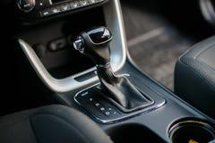 Car interior. Automatic transmission gear shift. Auto concept . Auto concept royalty free stock photo