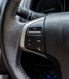 Car interior black door panel, nobody and close up Royalty Free Stock Images