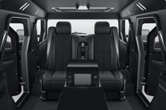 Car interior black seats Royalty Free Stock Image