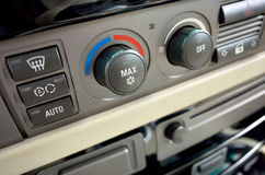 Car interior buttons Royalty Free Stock Image