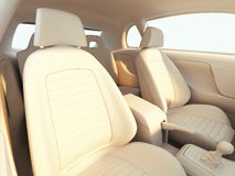 Car interior - clay render Stock Photography