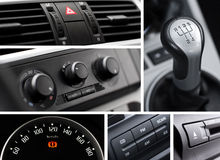 Car interior collage Stock Images