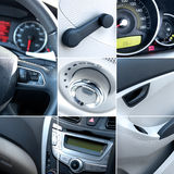 Car interior collage Royalty Free Stock Photo