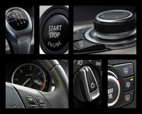 Car interior collage Royalty Free Stock Photography