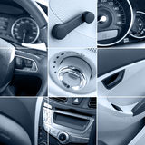 Car interior collage tinted Royalty Free Stock Images
