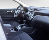 Car interior. Dashboard. Stock Image
