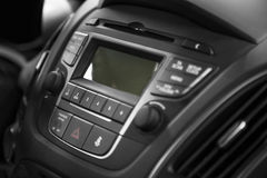 Car Interior. With the dashboard buttons detail Stock Photography