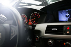 Car interior dashboard Stock Image