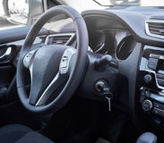 Car interior. Dashboard. Stock Images