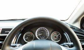 Car interior dashboard. Stock Photo