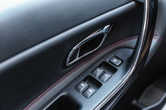 Car interior design, modern dashboard Stock Images