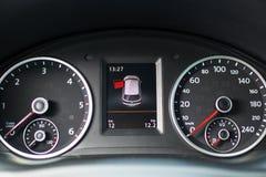 Car interior design, modern dashboard Royalty Free Stock Image