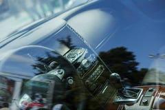Car interior design, modern dashboard Stock Photo