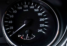 Car interior detail speedometer royalty free stock photography