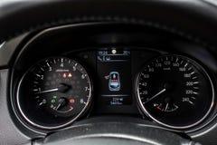 Car interior detail speedometer stock photos