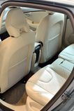 White leather seats inside car Royalty Free Stock Photography