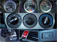 Car interior details collage Stock Photo