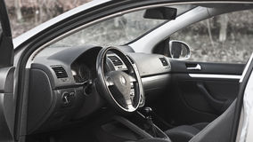 Car Interior. Details, door open and natural royalty free stock photography