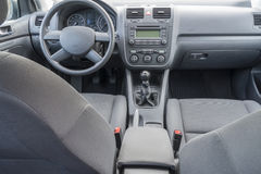 Car interior details. Modern car interior details with dashboard, speedometer, seat etc Stock Image