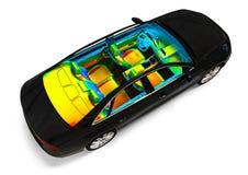 Car interior development process Stock Image