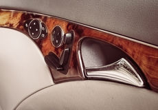 Car interior of door panel Stock Photo