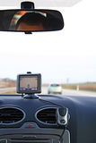 Car interior with GPS. Navigation system royalty free stock photos