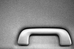 Car interior handle black and white. Background stock photos