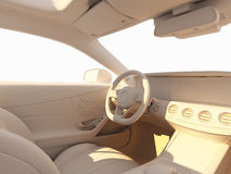 Car interior illuminated by the sunlihgt Royalty Free Stock Photography