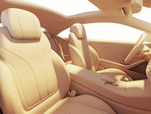 Car interior illuminated by the sunlihgt Stock Photography