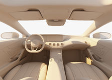 Car interior illuminated by the sunlihgt Royalty Free Stock Images
